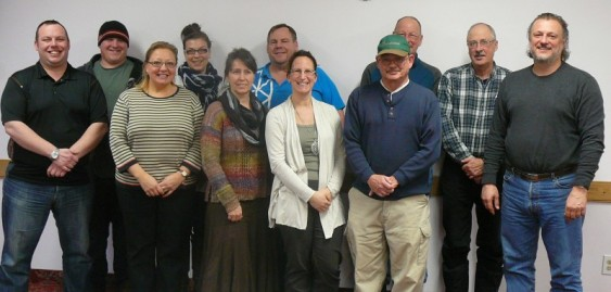 2014 Volunteer Committee:  (from left to right)  Brad Scott, Chris Wilkie, Kim Coulter, Lisa Billing, Della Spencer, John Kirkham, Nina McMeekin, Doug Court, Earl Anderson, Ron Knight and Pier Donnini.  Absent:  Rachelle MacKenzie, Terry Ford, Connie Barker and Kaitlyn Shular